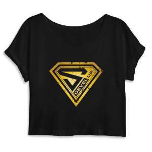 Crop Top Super DEVEL UP Gold